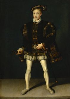 Portrait of Edward VI (1537-1553) Mid 19th Century  Follower of Guillim Scrots (fl.1537-1553)