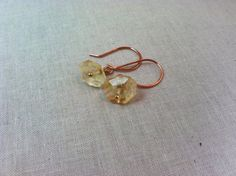 Citrine drop stone earrings by StoneWireWorks on Etsy