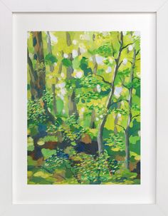 Green forest by Alexandra Dzh at minted.com