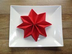 Gwiazda betlejemska - składanie serwetki / dekoracja stołu - YouTube