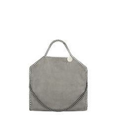 Light Grey Falabella Shaggy Deer Fold Over Tote - Stella Mccartney Official Online Store - SS 2016