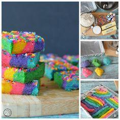 Unicorn Rainbow Cookie Bars