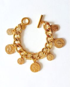 Gold Coins Only Charm Bracelet