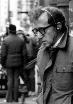 Woody Allen on set