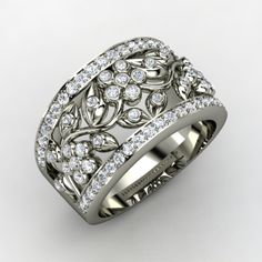 ALL ABOUT HONEYMOONS & DESTINATION WEDDINGS   Join our Facebook page!  https://www.facebook.com/AAHsf   Multi-stone, Diamond Fashion Ring in 14K White Gold