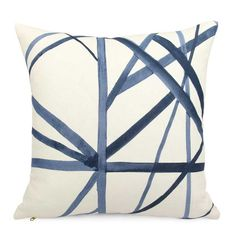 Nautical Anchors Fluo Neon Orange Navy Blue Stripe Customized Square Custom Throw Pillow Case Cushion Cover Pillowcase Pillow Cover Twin Sides 20x20