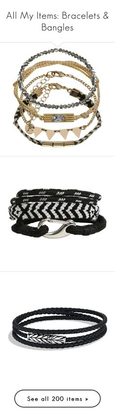 """""""All My Items: Bracelets & Bangles"""" by heart-out ❤ liked on Polyvore featuring jewelry, bracelets, accessories, charm jewelry, charm bangles, friendship bracelet, braided friendship bracelet, friendship charm bracelet, hot topic and ignore"""