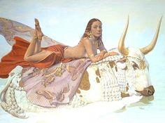 The Rape Of Europa. paintings by Nikolai Burdykin