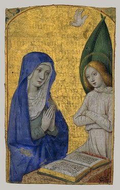 The Annunciation from a Book of Hours, 1485–90  France (Tours)  Tempera and gold leaf on parchment