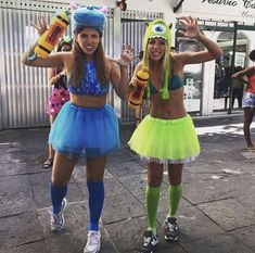 Sully e Mike Badass Halloween Costumes, Halloween Kostüm, Halloween Outfits, Halloween Makeup, Group Costumes, Cosplay Costumes, Halloween Kleidung, Best Friend Halloween Costumes, Best Friend Outfits