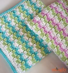 Introducing the Leaping Stripes and Blocks Blanket! The colors move through the blanket in a zigzag pattern that's fun to crochet in a variety of sizes!