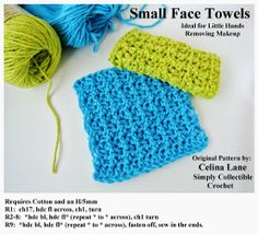Tiny Towels Crochet Pattern by Celina Lane, Simply Collectible