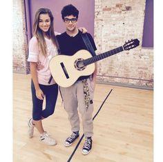 Sadie and Mark at rehearsal.