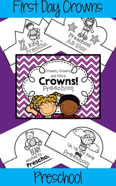 A huge collection of crowns that your preschoolers can wear on their first day of school. They'll be engaged from the start as they color and/or decorate a crown of their own! Choose one design for the entire class or copy several designs and let students choose their favorite.