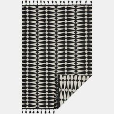 Kahelo Black and Ivory Rug from The Jungalow