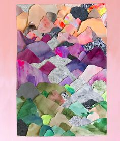 Image of Original Artwork - Forever Mountains. Collage, mixed media and printmaking Paper Collage Art, Collage Artwork, Paper Art, Cut Paper, Box Creative, Illustration Art, Illustrations, Art Classroom, Art Plastique