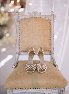 IN LOVE with these shoes!  gold wedding shoes