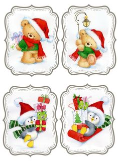 Marina Fedotova Christmas Labels, Christmas Clipart, Christmas Printables, Christmas Pictures, All Things Christmas, Vintage Christmas, Christmas Holidays, Christmas Crafts, Christmas Ornaments