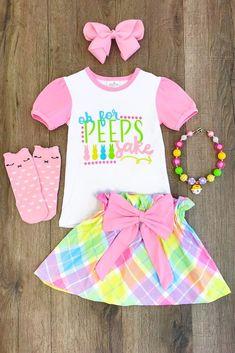 """""""Oh For Peeps Sake"""" Pastel Skirt Set #babystuffproducts"""