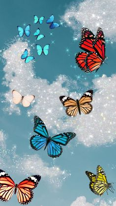 Butterfly Wallpaper Iphone, Iphone Wallpaper Vsco, Trippy Wallpaper, Mood Wallpaper, Iphone Background Wallpaper, Cartoon Wallpaper, Aztec Wallpaper, Iphone Backgrounds, Pink Wallpaper