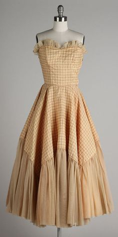 vintage 1950s dress . MARY WILMOT . strapless by millstreetvintage
