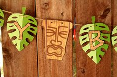Tiki Luau Hawaiian Party Happy Birthday Banner by PaperPartyParade, $28.00