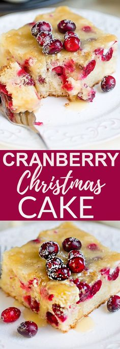 Cranberry Christmas Cake with Butter Sauce makes a the perfect elegant and simple dessert for Christmas, Thanksgiving or any holiday gathering. Covered in the classic 4 ingredient warm buttery sauce that just melts in your mouth. #Christmas #thanksgiving #dessert #cranberry #cake #oldfashioned #butterysauce #holidays