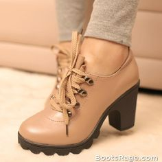 Vintage thick heel autumn high-heeled Boots 2013 - Women Boots And Booties