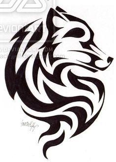 wolf cub tribal tattoo - Google Search