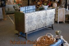 stenciled chest by Fabulous Finishes
