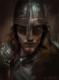 study by davood diba on ArtStation. Fantasy Portraits, Character Portraits, Character Art, Viking People, Norse People, Medieval Fantasy, Dark Fantasy, Fantasy Art, Viking Art