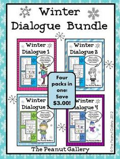 Here's a fun way to practice dialogue this winter! Check out sets 1-4 or this Winter Dialogue Bundle of all four sets. My students love this activity! It's easy to incorporate other skills with the dialogue practice such as figurative language, spelling words, vocabulary words, types of sentences, etc. ($)