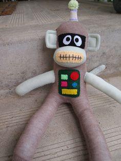 Robot Sock Monkey!