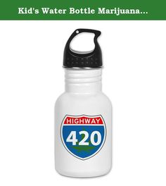 Kid's Water Bottle Marijuana Highway 420 Sign. Product Number: 0001-1546853058 Perfect for school lunches or soccer games, our kid's stainless steel water bottle quenches children's thirst for individuality. Personalized for what kids love, it's both eco-friendly and compact. Made of 18/8, food-grade stainless steel. * No lining & no BPA or other toxins * Wide mouth for easy drinking * Durable, BPA-free & phalate-free screw-on top * Holds 0.35L (nearly 12 ounces) * Thin profile to fit…