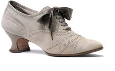 1910-1914, England - Shoe by Alan McAfee - Sueded, silk taffeta