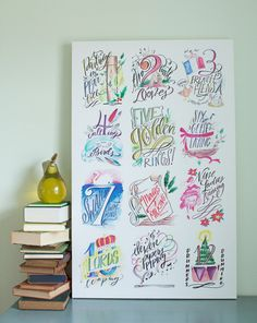 All Twelve Days of Christmas Canvas | Lindsay Letters