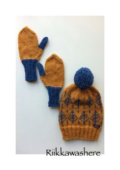 Knithat knit beanie and mittens
