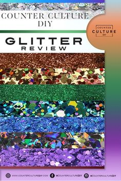 We are talking about all things glitter in our Counter Culture DIY Glitter review. Find out all about our amazing line of glitters and how to use them! This Is Us, Counter, Glitter, Culture, Diy, Bricolage, Do It Yourself, Homemade, Diys