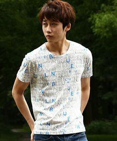 LANVIN en Bleu MEN(ランバン オンブルーメン)のLANVIN en Bleu Logo Print Short Sleeve T-shirt【WEB Limited】/ロゴプリント 半袖Tシャツ(Tシャツ/カットソー)|ホワイト