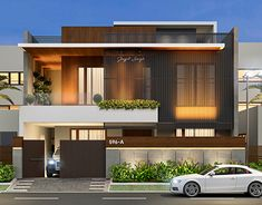 39 Trendy Ideas For House Front Design Indian Small Modern House Facades, Modern Exterior House Designs, Modern Architecture House, Architecture Design, Indian House Exterior Design, Best Modern House Design, Bungalow House Design, House Front Design, Bungalow Exterior