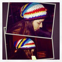 Yarknit's colorful beanie ..happy Thursday :) #yarknit   #beanie #colorful #hat #wool #woolwear #winterwear #knittedwithlove #knit #yarn #allwool #beamman #fashion