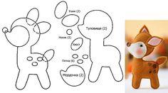 Making Your Own Plushies: Felt Toys - So Crafty Felt Animal Patterns, Felt Crafts Patterns, Felt Crafts Diy, Felt Diy, Stuffed Animal Patterns, Baby Crafts, Felt Christmas Decorations, Felt Christmas Ornaments, Felt Templates