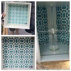 Moroccan Wall & Furniture Stencils | Atlas Allover Moroccan Stencil | Royal Design Studio