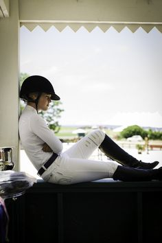 Nice breeches. Equestrian.  Boots. Breeches. Lovely woman .