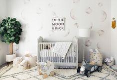 Baby Nursery Wallpaper, Moon and Stars Wallpaper, Luna Wall Mural Baby Nursery Themes, Baby Nursery Neutral, White Nursery, Baby Boy Rooms, Baby Boy Nurseries, Baby Room, Themed Nursery, Unisex Nursery Ideas, Nursery Patterns