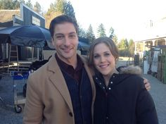 Daniel Lissing & Erin Krakow from When Calls the Heart (behind the scenes)