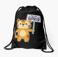 Safari, Drawstring Backpack, Backpacks, Tiger, Bags, Environmentalism, Cinch Bag, Gymnastics, Nature