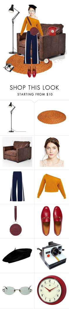 """Back To Future 💃"" by doongdoongie ❤ liked on Polyvore featuring Anglepoise, Jennifer Behr, Norma Kamali, Diane Von Furstenberg, Gucci, Polaroid, Cartier, Improvements and Cadran"