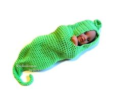 crochet pattern...baby sprout cocoon pea pod