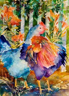 chickens, this is so pretty and colorful.  I really like it!